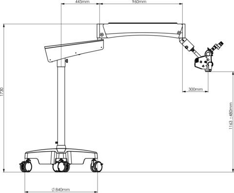 SOM4dent 100-300 Rollstativ